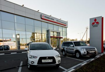 The autocentre «Mitsubishi» in Ekatherinburg
